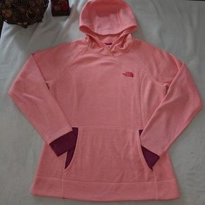 North Face Coral & Purple Pullover Hoody Medium